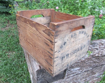 Vintage Wood Crate / Wood Box / Antique Box