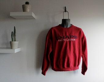 Ralph Lauren Chaps Vintage 1990's Sweater // Sportswear // 15% Off Code - OGVintage