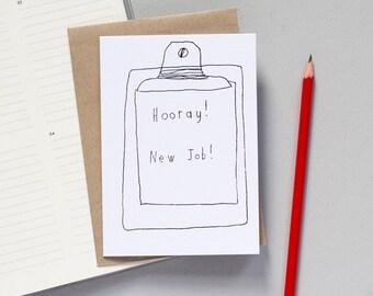 New Job Greetings Card - Job Card - Promotion Card - Well Done Card - Celebration Card - Job Card