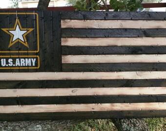 U.S. Army black and white flag.