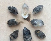Double Terminated Tibetan Quartz Points- Tibetan Quartz Points- Black Tibetan Quartz