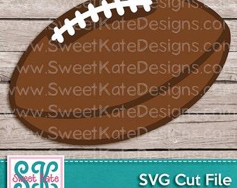 Football Sports Ball SVG JPG PNG {Scrapbook Die Cut or Heat Transfer Vinyl Cut} Cricut Silhouette - Instant Download Sweet Kate Designs