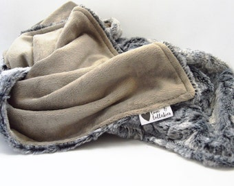 LUXE Collection- The Coyote Luxe Combination of Specialty Faux Furs and Smooth Minky