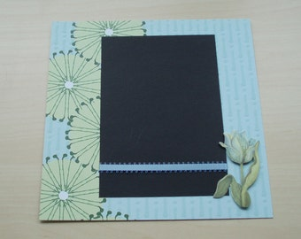 "Floral 8x8 Scrapbook using GCD Kathy Davis ""Journeys"" Paper Pad, PreMade Scrapbook, PreMade Memory Book, Gift for Her, Bridal Shower Gift"