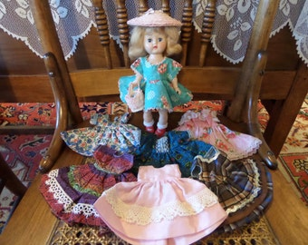 1955 Ginger Doll with 7 Dress Lot