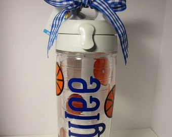 Tervis Tumbler with Name and Basketballs