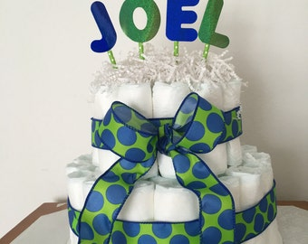 Personalized Name Diaper Cake