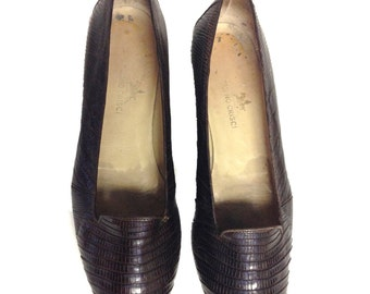 Tanino Crisci Brown Armadillo Loafers - Size 39B - Made in Italy