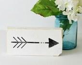 "Rustic Mini Arrow Wood Sign, 3 1/2"" x 7"" Shabby Chic"