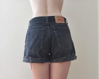 Vintage Levis Black Denim Shorts