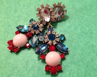 Art Deco Syle Dangling Post Earrings