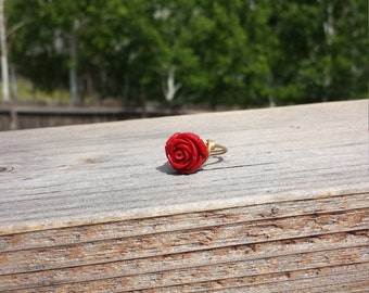 Beauty and the Beast inspired Rose Ring