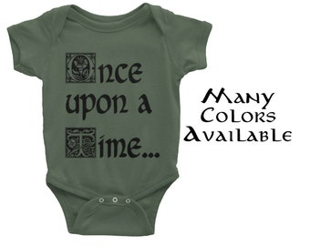 "Fairytale ""Once Upon a Time"" Onesie - 4 Colors Available and Many Sizes!"