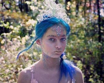 Mermaid,fairy,  glass, bubble, tiara, fantasy