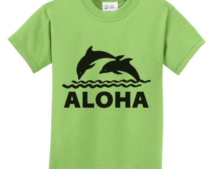 Aloha Dolphin Hawaiian T-Shirts for the whole family