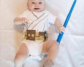 Galaxy Star Hero  Baby Luke Jedi Baby Costume  Inspired  Star Hero Costume Baby Funny Baby Clothes