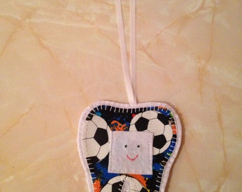 Tooth Fairy Hanger, football tooth fairy hanger,