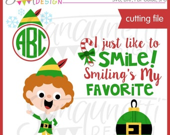 Christmas Elf SVG, DXF, cutting file for Cricut Silhouette Commercial Use License Included