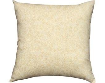 Cream Floral Printed Cotton Cushion / Pillow