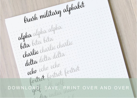 Intermediate Brush Lettering Worksheets, Calligraphy Tutorial ...