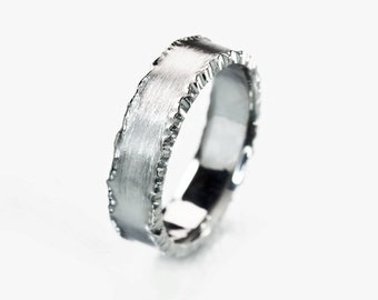 Mens platinum rings Etsy