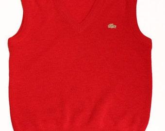 70's vintage Lacoste vest made in France