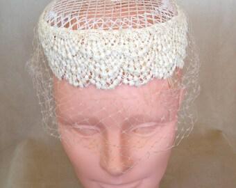 Pillbox Hat Lacey Vintage