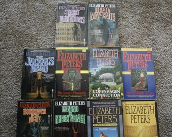 Lot of 10 Elizabeth Peters books / Free shipping
