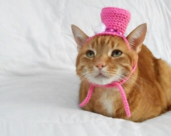 Top Hat for Cat, Cat Hat, Cat Crochet Hat, Novelty Hat for Pets, Wedding Hat, Cat Marriage. Halloween Costume