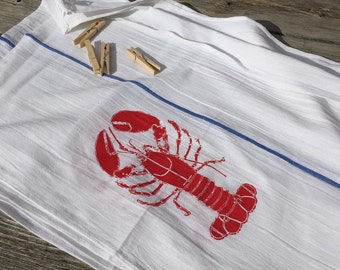 Lobster Bibs/Dish Towels, set of 4