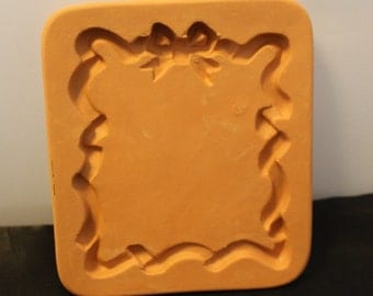 Stampin' Up Bow Frame Shaped Cotton Press Art Pottery Cookie Mold Paper Art