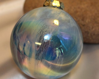 Vintage Light Blue and Multi-colored Christmas Ornament #2