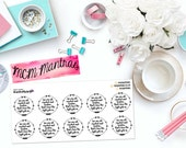 "MCM MANTRAS: ""We are all cracked and broken...that's how the light gets in"" Paper Planner Stickers!"