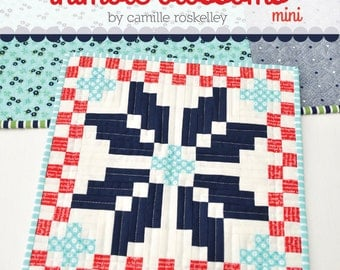 "Norway mini quilt pattern by Camille Roskelley for Thimble Blossoms #184 Fat Eighth and Fat Quarter friendly 12.75"" by 12.75"""