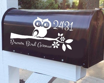 Hooting Around Owl Mailbox Decal