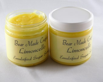 Limoncello Sugar Scrub, Emulsified Sugar Scrub, Exfoliating Scrub, Body Scrub