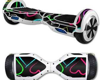 Skin Decal Wrap for Self Balancing Scooter Hoverboard unicycle Hearts