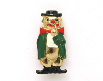 Clown, Soviet Badge,  Vintage collectible badge, Pin, Russia, Soviet Union, Made in USSR, 1980s