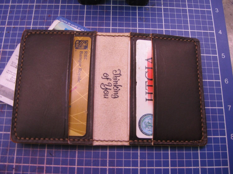 Elegant Handmade Leather Business Card Holder, Credit card holder ...