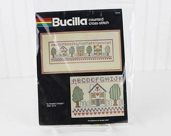Alphabet Street Counted Cross Stitch Kit, Bucilla, K123