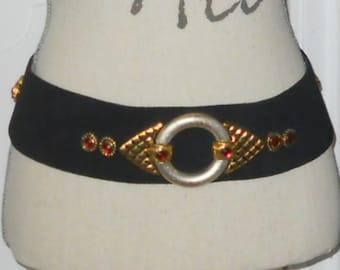 1980s vintage statement leather belt