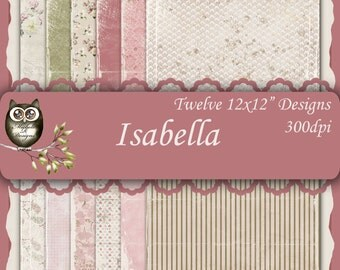 Isabella  12x12 Collection - Instant Download