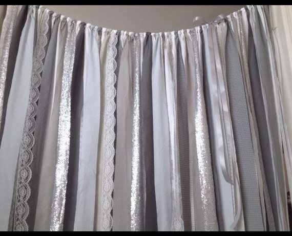 Gray Industrial Curtain Steel Sequin Garland By ChangesByNeci