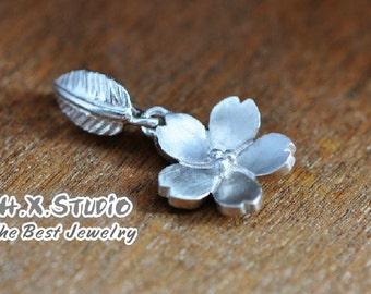 Silver Sakura Flower (Cherry Blossom) Pendant, Handmade Silver Pendant, Handmade Silver Jewelry, Wholesale Available
