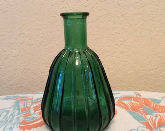 Italian glass bottle