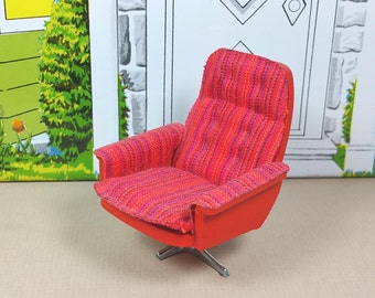 LUNDBY SWIVEL CHAIR, 1:18 Scale, 1970's, Vintage Dollhouse Furniture