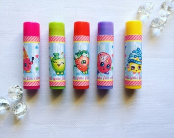 Shopkins lip balm labels
