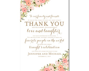 Printable Thank You Wedding Sign, Thank You Sign, Printable Thank You Sign, Reception Sign, Ceremony Sign, Thank You Wedding Poster #CL171