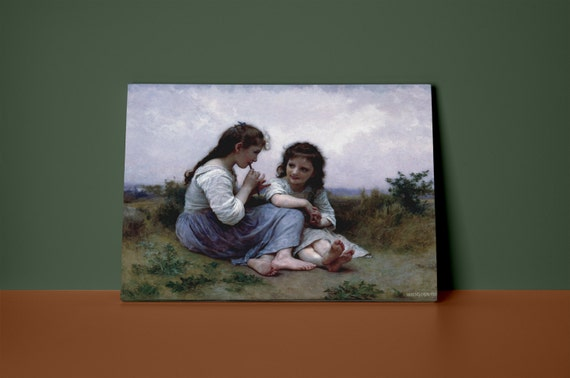 A Childhood Idyll | William Bougeureau Mirror Wrapped Canvas