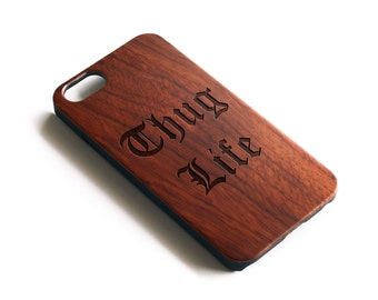 iPhone 6S Case, Real Wood, iPhone 6 Plus, iPhone 6 Plus Cases, iPhone 6S Case, iPhone 6S, iPhone 6 Plus Case, Thug Life, Rosewood, Gift
